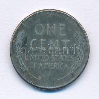Amerikai Egyesült Államok 1943. 1c Zn borítású acél Lincoln T:2- USA 1943. 1 Cent Zn coated steel Lincoln C:VF Krause KM#132a