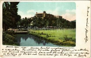 1902 Mexico City, Castillo de Chapultepec / castle (worn corner)