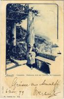 1899 Amalfi, Campania, Panorama visto dal Convento dei Cappucini / general view, monastery. Fot. Alinari (fl)