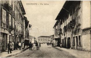 Codroipo, Via Udine / street view, bicycle, shops (EK)