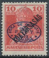 Debrecen 1919 Károly/Köztársaság 10f, Bodor vizsgálójellel (10.000)