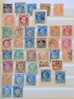 Franciaország gyűjtemény szép klasszikus résszel az 1970-es évekig, 16 lapos közepes berakóban