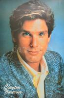 Clayton Norcross színész plakátja, ofszet, papír. lap szélén kisebb törésekkel. 90×60 cm