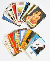 1978-2018 60 db vegyes kártyanaptár, közte OTP bank, Állami Biztosító, MHSZ, stb.