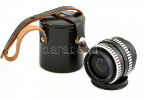 Zeiss Flektogon f/2.8, 35 mm objektív, eredeti bőr tokban