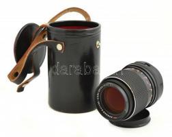 Zeiss Sonnar MC f/3.5, 135 mm objektív, eredeti bőr tokban.
