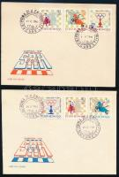 Románia 1966 2 db levél