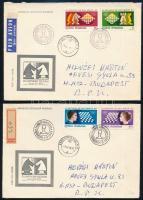 Románia 1980 2 db levél