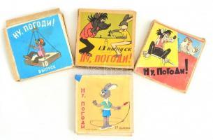 No, megállj csak! 4 db szovjet rajzfilmtekercs eredeti dobozában