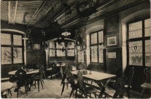 1907 Bolzano, Bozen (Südtirol); Batzenhäusl, Künstler- und Dichter-Zimmer / inn, restaurant, interior