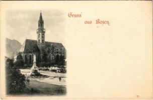 Bolzano, Bozen (Südtirol); church, square (EK)