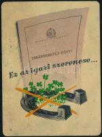 1955 Országos Takarékpénztár, fém kártyanaptár, 7x9,5 cm