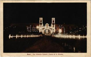 1927 Bari, Via Vittorio Veneto (Festa di S. Nicola) / street view, Saint Nicholas Festival (fa)