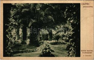 Capri, Anacapri; Eden Hotel Paradiso, Il Giardino / hotel, garden