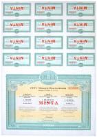 Budapest 1989-1993. 3db klf MINTA részvény szelvényekkel, közte BÖRZSÖNY-COM Telekommunikációs Részvénytársaság, AZURINVEST Vagyonkezelő és Kereskedelmi Részvénytársaság,  OETL Motorgyár Részvénytársaság T:I