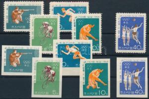 Tokiói olimpia fogazott és vágott sor, Tokyo Olympcis perforated and imperforated set