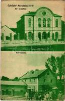 1929 Abaújszántó, Izraelita templom, zsinagóga, gőzmalom. Simkó István kiadása (EK)