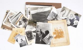 cca 1900-1970 vegyes fotó tétel, különböző témákban, 8,5x5,5 cm és 24x18 cm