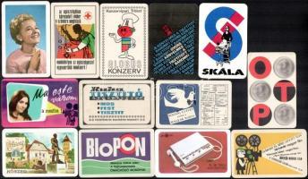 1967-1977 20 db kártyanaptár, közte: MOKÉP, Skála, Globus Konzerv, stb.