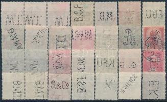 28 db Turul bélyeg céglyukasztással, benne 3 összefüggés
