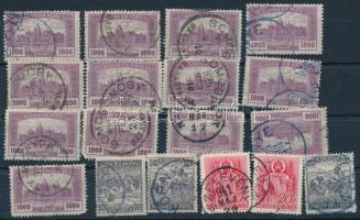 18 db bélyeg egykörös bélyegzéssel