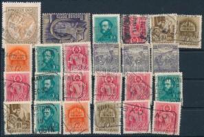 24 db bélyeg postaügynökségi bélyegzéssel