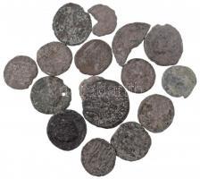 Római Birodalom 14db-os, főleg IV. századi Follis tétel, közte Probus + 2db töredék érme T:3-4 Roman Empire 14pcs Follis lot, mostly from the 4th Century, within Probus + 2pcs broken coins C:F-G
