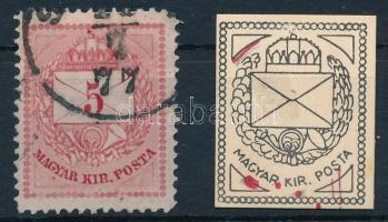 1874 5kr karcok, foltok (ex Visnya)