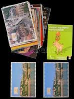 Kb. 200 db MODERN használatlan motívum képeslap: reklám, érdekesek / Cca. 200 modern unused motive postcards: advertisement, interesting