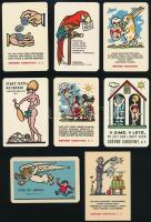 1970-1974 8 db csehszlovák kártyanaptár