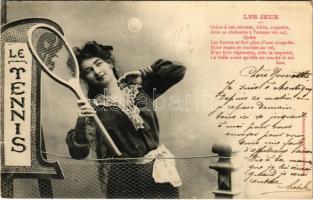 1903 Le Tennis / Lady with tennis racket (EK)