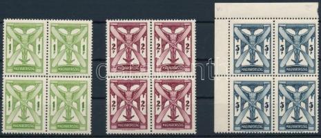 1933 Repülő sor négyes tömbökben / Airmail set blocks of 4 (320.000)
