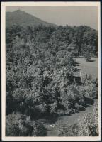 cca 1932 Kinszki Imre (1901-1945) budapesti fotóművész hagyatékából, pecséttel jelzett vintage fotó (Weekend a budai hegyekben), 18x13 cm