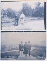 cca 1910 Papírnegatívok, 2 db vintage fotó, 8,7x13,9 cm