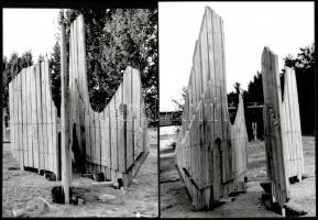 cca 1970-es évek, Tokaj, Tahin Gyula és Vencsellei István pecséttel jelzett, 5 db vintage fotója, a tokaji művésztelepről, 23x17 cm