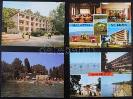 Kb. 1000 db MODERN magyar város képeslap, szép bélyegzésekkel, változatos anyag hagyatékból, dobozban / Cca. 1000 modern Hungarian town-view postcards, diverse collection in a box