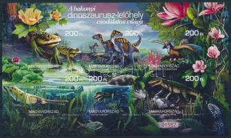 2020 A bakonyi dinoszaurusz-lelőhely vágott blokk