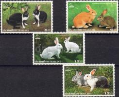 THAIPEX national stamp exhibition: rabbits set, THAIPEX nemzeti bélyegkiállítás: házinyulak sor, Nationale Briefmarkenausstellung THAIPEX: Hauskaninchen Satz