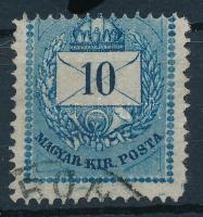 1874 10kr gyöngyjavítással, durván képbe fogazva (ex Lovász)
