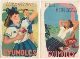 10 db magyar egészségügyi propagandalap / 10 Hungarian health campaign propaganda cards