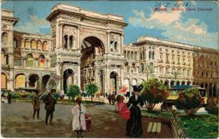 Milano, Milan; Galleria Vittorio Emanuele / street view, arcade, tram (EK)