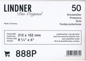 Lindner 888P víztiszta bankjegytok, 50db-os eredeti, bontatlan csomagban (213x152mm)