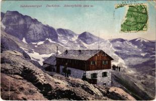 1913 Dachstein (Salzkammergut), Simonyhütte. TCV card + BUDAPESTI TURISTA EGYESÜLET ARÁNYI MENEDÉKHÁZ JAVÁRA (EK)