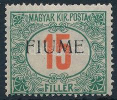 Fiume 1918 Pirosszámú Portó 15f garancia nélkül (min **60.000)