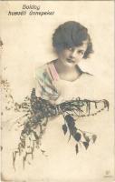 1919 Boldog Húsvéti Ünnepeket! / Easter greeting, little girl