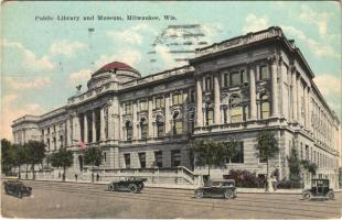 1922 Milwaukee (Wisconsin), Public Library and Museum, automobiles (EK)