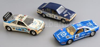 Burago fém játék autók Alfa Romeo 75. Ferrari Gto 1984, Pegueot 405 18 cm