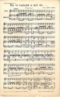 1903 Ha te tudnád a mit én... Népdal. Zenés levelezőlapok 87. sz. / Hungarian folk music sheet (EB)