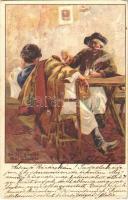 1899 (Vorläufer) Csárda / Hungarian folklore. Kunstanstalt Kosmos 84. litho