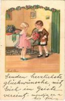 Gyerekek / Children art postcard. A.G.B. No. 3226. litho s: Pauli Ebner (EB)